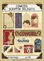 Cow Kids Scrappin' Delights Clip Art Graphics
