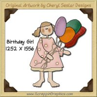 Birthday Girl Single Graphics Clip Art Download