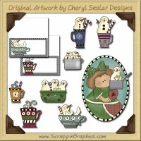 Makin' Snowman Soup Collection Graphics Clip Art Download