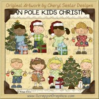 Bean Pole Kids Christmas Limited Pro Clip Art Graphics