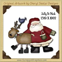 Jolly St Nick Clip Single Graphics Clip Art Download
