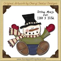 Snow Much Fun Single Graphics Clip Art Download