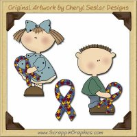 Autism Kids Graphics Clip Art Download