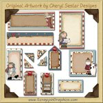 It's Christmas Journaling Delights Digital Scrapbooking Graphics Clip Art Download