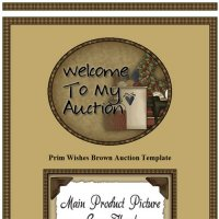 Prim Wishes Brown Auction Template
