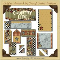 Country Quilt Journaling Delights Digital Scrapbooking Graphics Clip Art Download