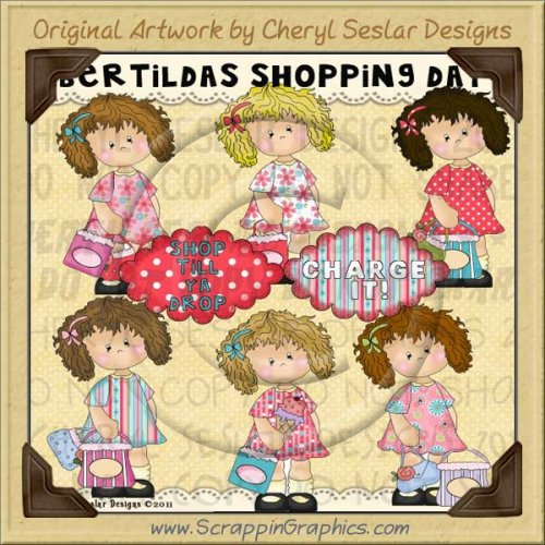 Bertilda's Shopping Day Limited Pro Clip Art Graphics