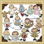 Heavenly Angels CD Collection Graphics Clip Art Download
