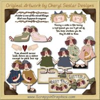 Prim Sisters Collection Clip Art Download