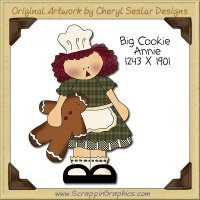 Big Cookie Annie Single Clip Art Graphic Download