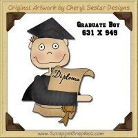 Graduate Boy Single Graphics Clip Art Download
