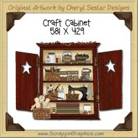 Craft Cabinet Single Graphics Clip Art Download