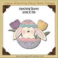 Hatching Bunny Single Graphics Clip Art Download
