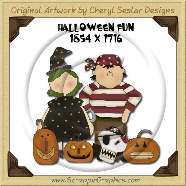 Halloween Fun Single Graphics Clip Art Download - Click Image to Close