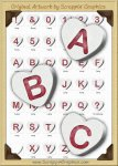 3D White Conversation Hearts Letters & Numbers Clip Art Graphics