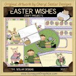 Easter Wishes Clip Art Graphics Collection