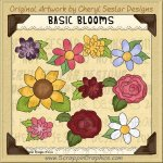 Basic Blooms Limited Pro Clip Art Graphics