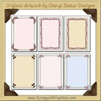 Pretty Card Starters Sampler Card Printable Craft Download