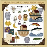 Noah's Ark Clip Art Graphics Collection