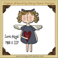 Love Angel Single Graphics Clip Art Download