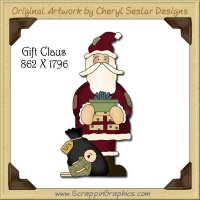 Gift Claus Single Graphics Clip Art Download