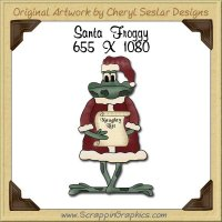 Santa Froggy Single Graphics Clip Art Download