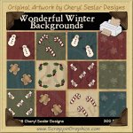 Wonderful Winter Background Tiles Clip Art Graphics