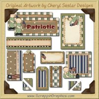 Camo Kids Journaling Delights Digital Scrapbooking Graphics Clip Art Download
