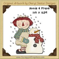 Annie & Frank Snowman Single Graphics Clip Art Download