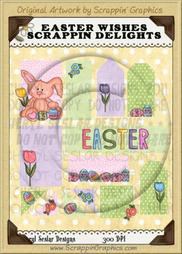 Easter Wishes Scrappin' Delights Clip Art Graphics Collection