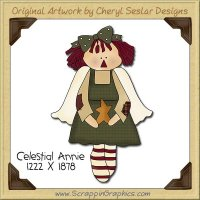 Celestial Annie Single Clip Art Graphic Download