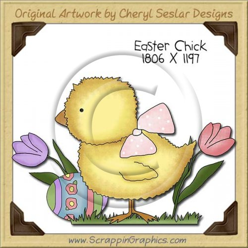 Easter Chick Single Clip Art Graphic Download