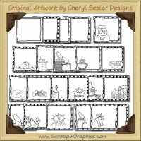 Primitive Style Tags Collection Graphics Clip Art Download