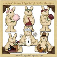 Seasonal Bunnies Collection Graphics Clip Art Download