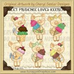 Piglet Prudence Loves Ice Cream Limited Pro Clip Art Graphics