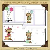 Baby Bear Birthday Postcard Collection Printable Craft Download