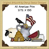 All American Prim Single Graphics Clip Art Download