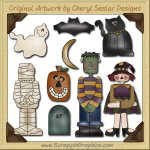 Halloween Fun Mini Collection Graphics Clip Art Download