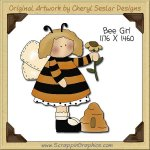 Bee Girl Single Clip Art Graphic Download