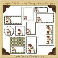 Winter Time Annie Printable Pack Graphics Clip Art Download