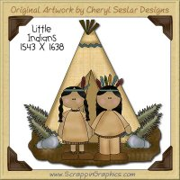 Little Indians Single Clip Art Graphic Download
