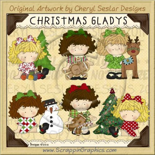 Christmas Gladys Limited Pro Clip Art Graphics
