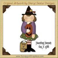 Haunting Hannah Single Graphics Clip Art Download