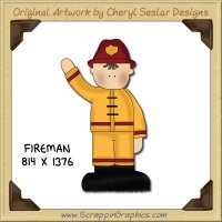 Fireman Single Graphics Clip Art Download