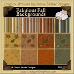 Fabulous Fall Background Tiles Clip Art Graphics