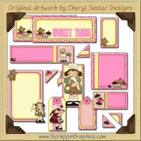 Bakery Goodies Journaling Delights Digital Scrapbooking Graphics Clip Art Download