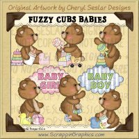 Fuzzy Cub Baby Bears Limited Pro Clip Art Graphics