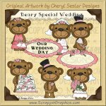 Beary Special Wedding Limited Pro Clip Art Graphics