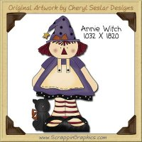 Annie Witch Single Clip Art Graphic Download