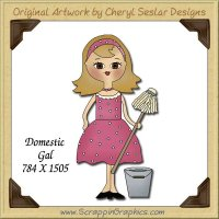 Domestic Gal Single Graphics Clip Art Download
